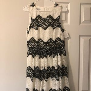 NWT Black and White Lace Dress